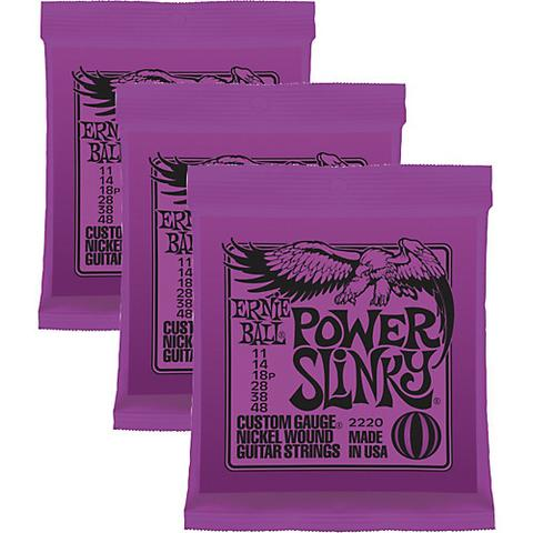 Ernie Ball strenge 11-48 Super Power - 3 pakker