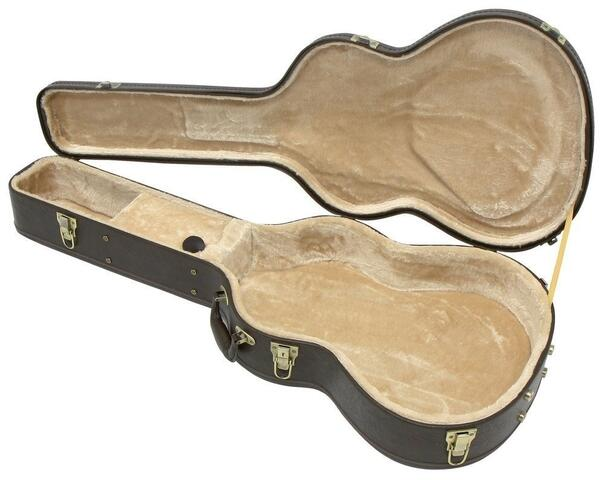 Guitar hard case - Retro brun - Klassisk guitar