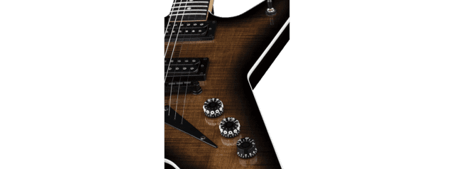 Dean - MLX Flame Top - Charcoal Burst