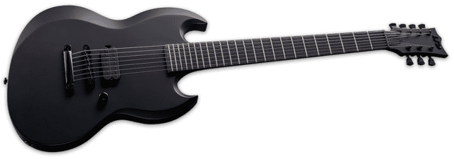 ESP LTD - VIPER-7 BARITONE BLACK METAL - Black Satin