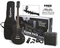 Epiphone Les Paul Player Pack el-guitar, pakkeløsning Ebony